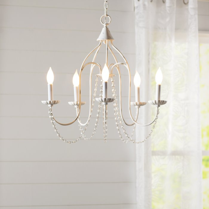 Florentina 5 Light Candle Style Chandelier Intended For Florentina 5 Light Candle Style Chandeliers (View 1 of 20)