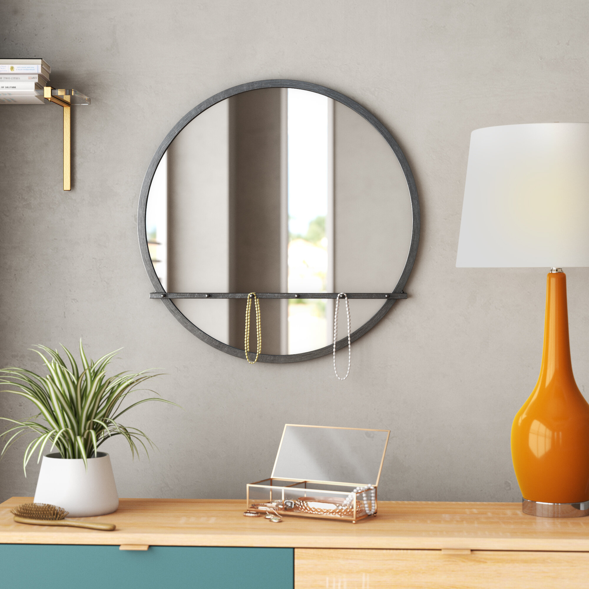 Fowles Round Metal Framed Accent Mirror Within Knott Modern & Contemporary Accent Mirrors (Image 9 of 20)