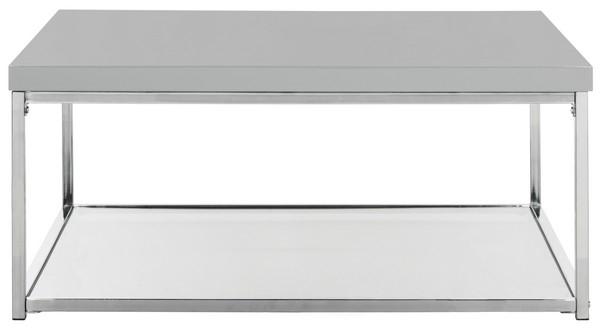 Fox2214C Coffee Tables – Furnituresafavieh Regarding Safavieh Malone White Chrome Coffee Tables (View 7 of 25)