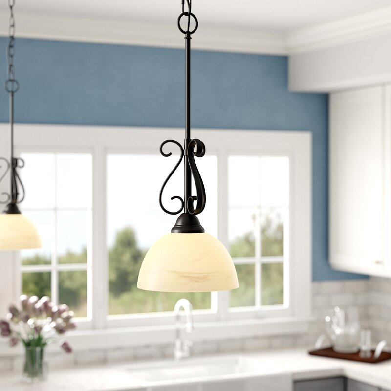 Foxburg 1 Light Dome Pendant With Grullon Scroll 1 Light Single Bell Pendants (View 25 of 25)