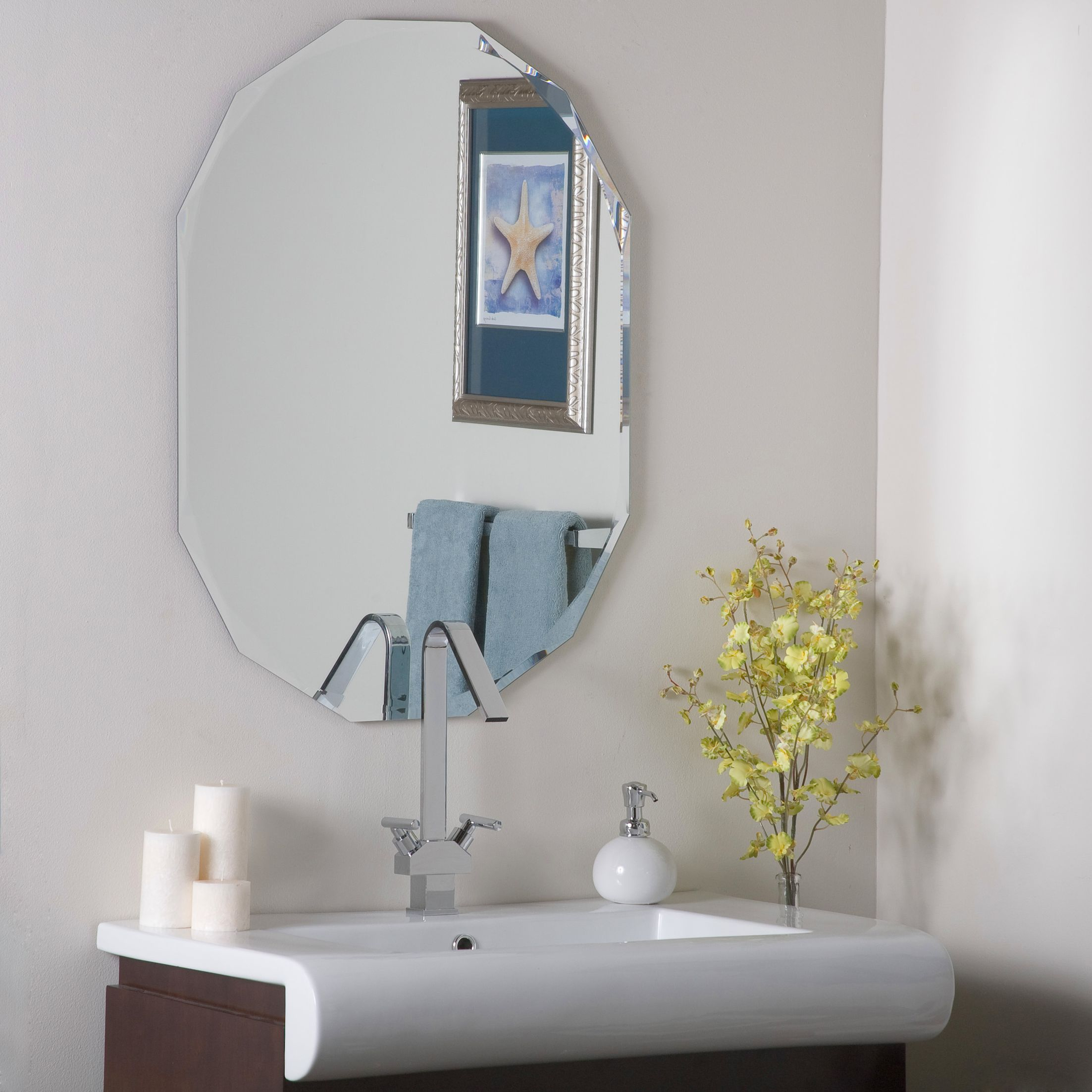 Frameless Diamond Wall Mirror | Mirrors Regarding Logan Frameless Wall Mirrors (View 14 of 20)