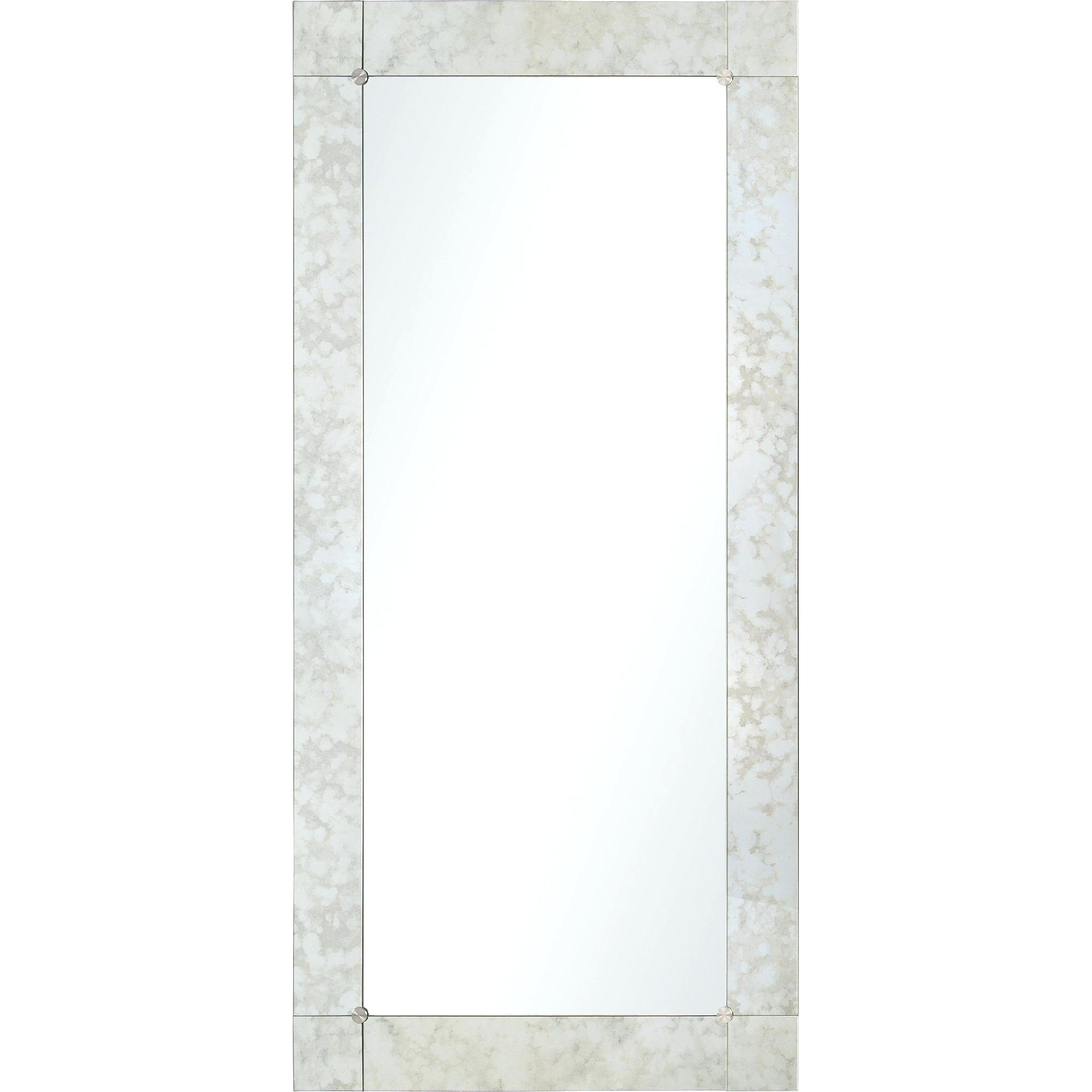 Frameless Full Length Mirror With Rectangle Pewter Beveled Wall Mirrors (Image 12 of 20)