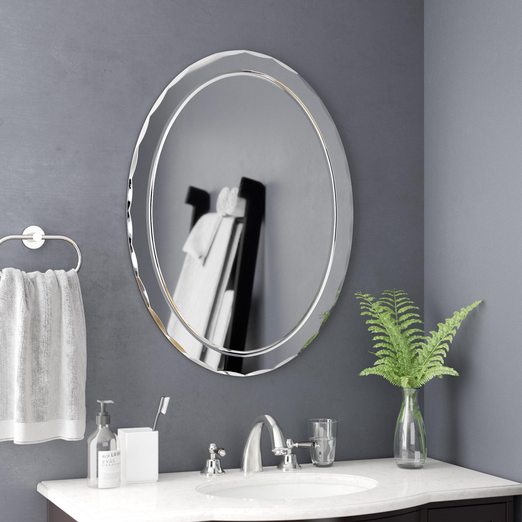 Frameless Wall Mirror Inside Thornbury Oval Bevel Frameless Wall Mirrors (View 10 of 20)