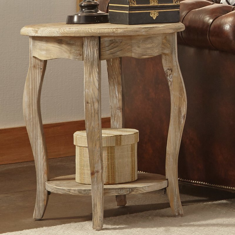 Francoise End Table With Regard To Handmade Whitewashed Stripped Wood Tables (Image 6 of 25)