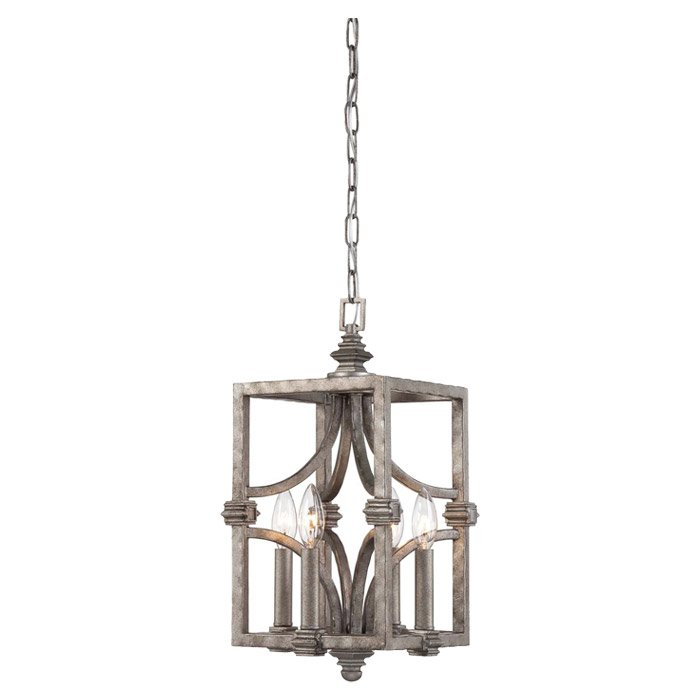 Freeburg 4 Light Lantern Square / Rectangle Pendant In Destrey 3 Light Lantern Square/rectangle Pendants (View 11 of 20)