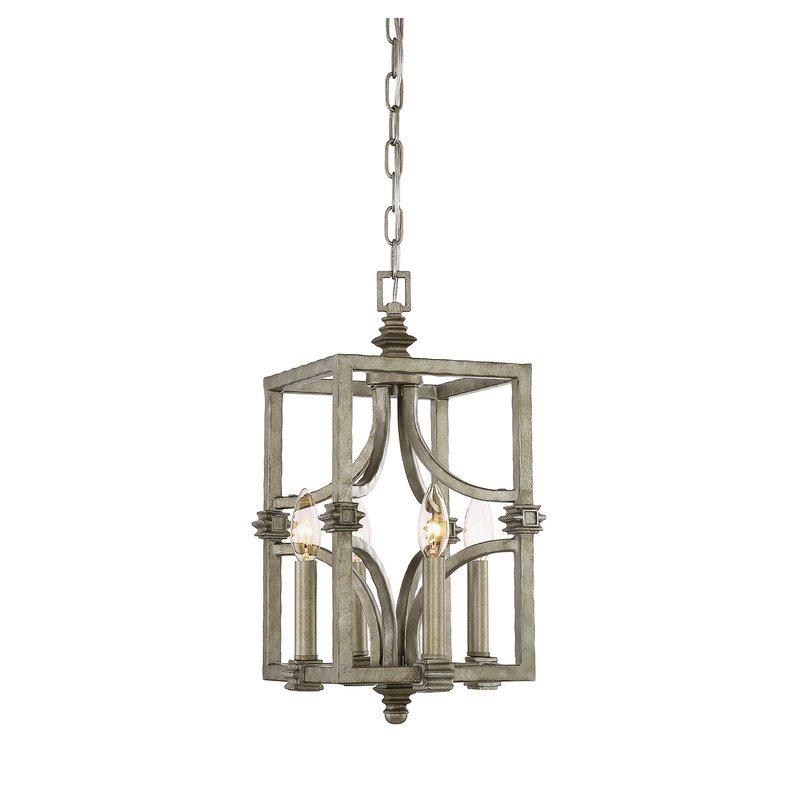 Freeburg 4 Light Lantern Square / Rectangle Pendant Regarding William 4 Light Lantern Square / Rectangle Pendants (Image 2 of 25)
