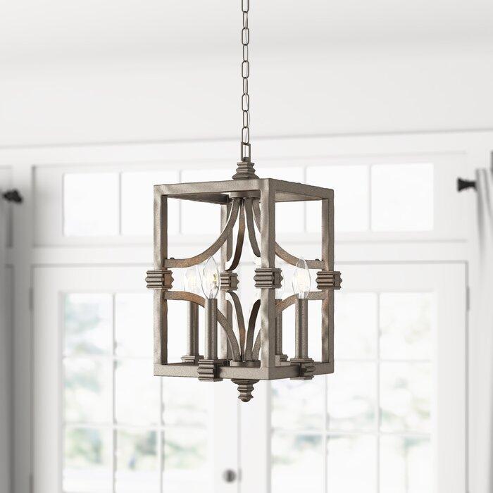 Freeburg 4 Light Lantern Square / Rectangle Pendant With Regard To William 4 Light Lantern Square / Rectangle Pendants (Image 4 of 25)