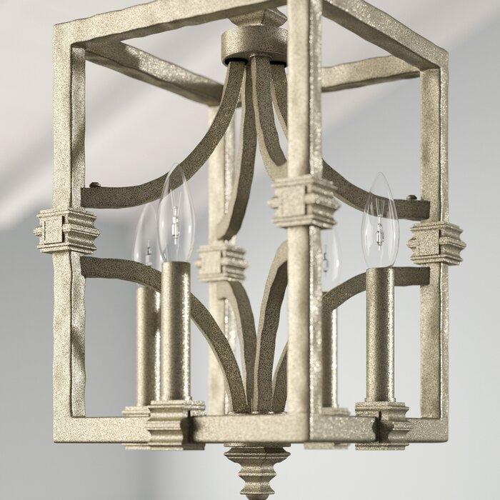 Freeburg 4 Light Lantern Square / Rectangle Pendant Within William 4 Light Lantern Square / Rectangle Pendants (Image 5 of 25)