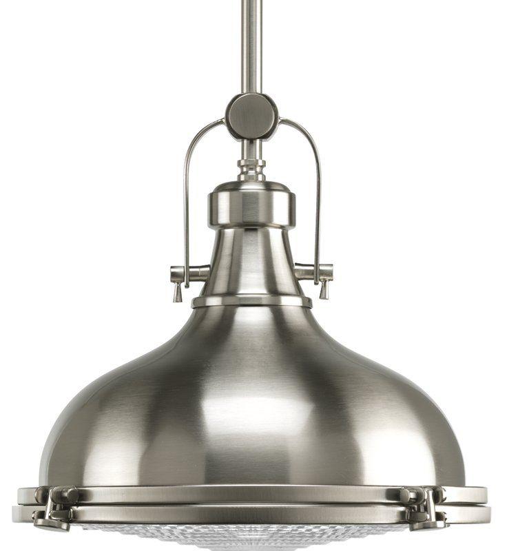Freeda 1 Light Single Dome Pendant | Lighting | Brushed Regarding 1 Light Single Schoolhouse Pendants (View 19 of 25)