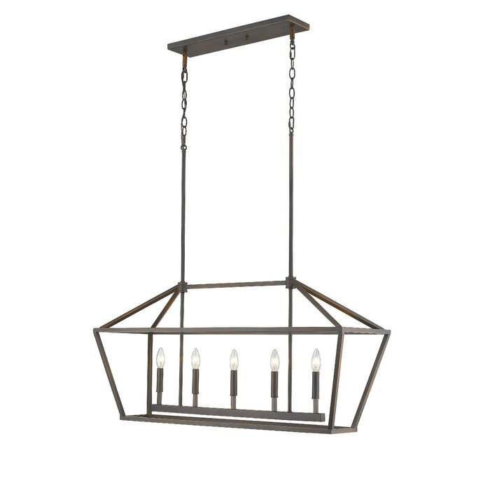 Featured Image of Freemont 5 Light Kitchen Island Linear Chandeliers