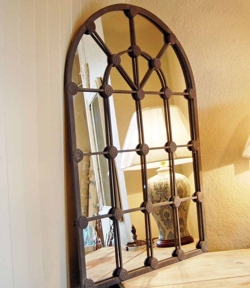 French Window Arch Mirror | Interior Design Ideas | Arch Regarding Metal Arch Window Wall Mirrors (Image 7 of 20)