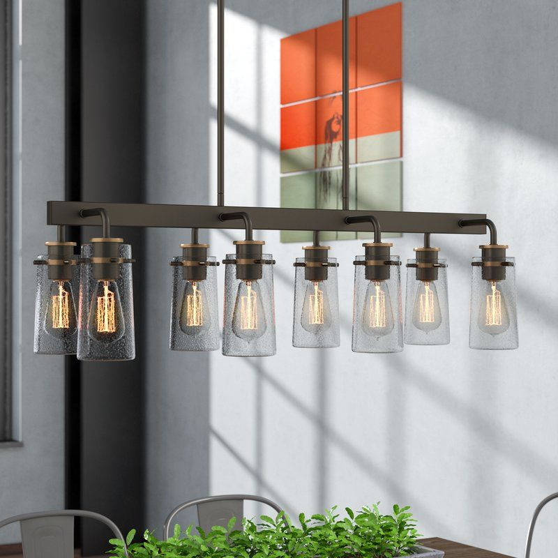 Fruita 8 Light Kitchen Island Linear Pendant In 2019 Throughout Jefferson 4 Light Kitchen Island Linear Pendants (View 21 of 25)