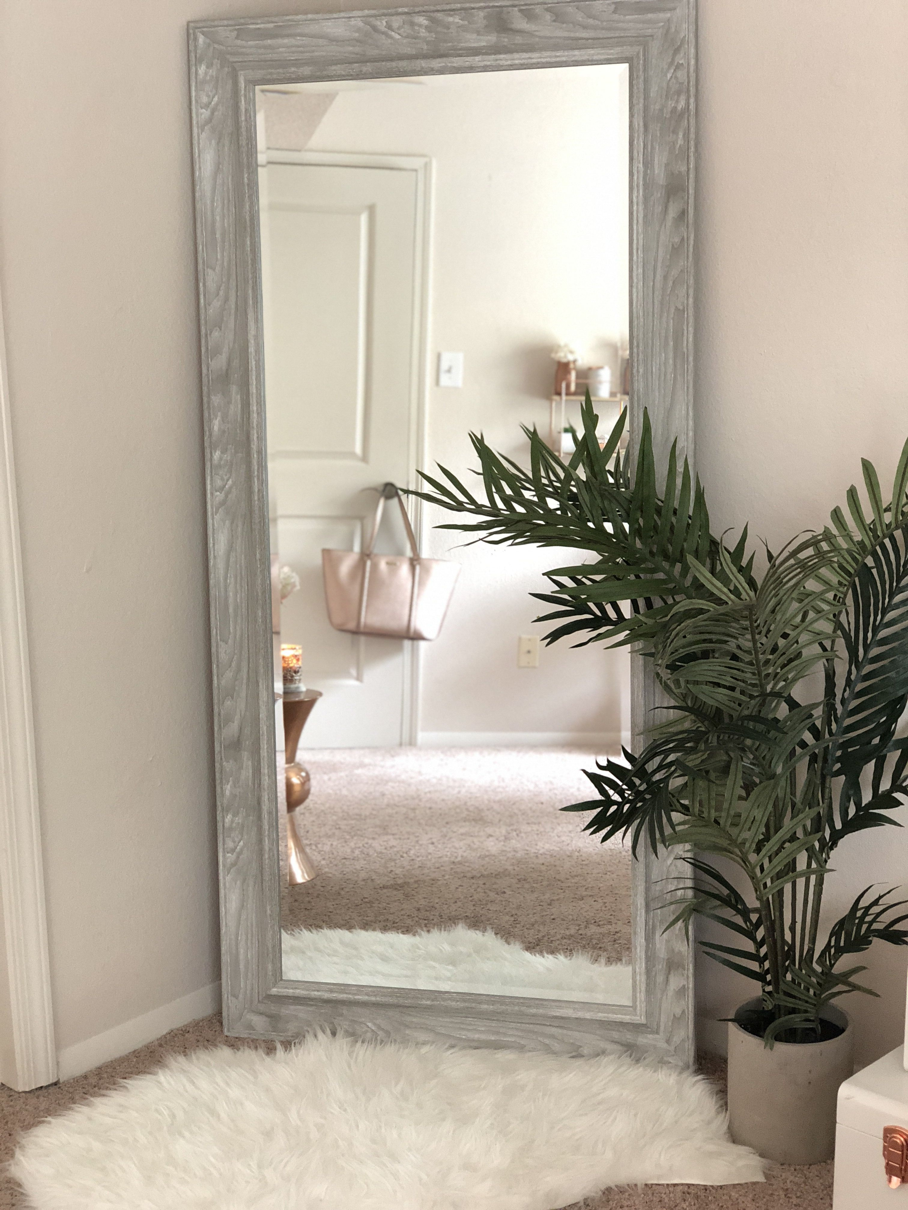 Full Length Mirror | Rose Gold In 2019 | Big Mirror In In Handcrafted Farmhouse Full Length Mirrors (Image 10 of 20)