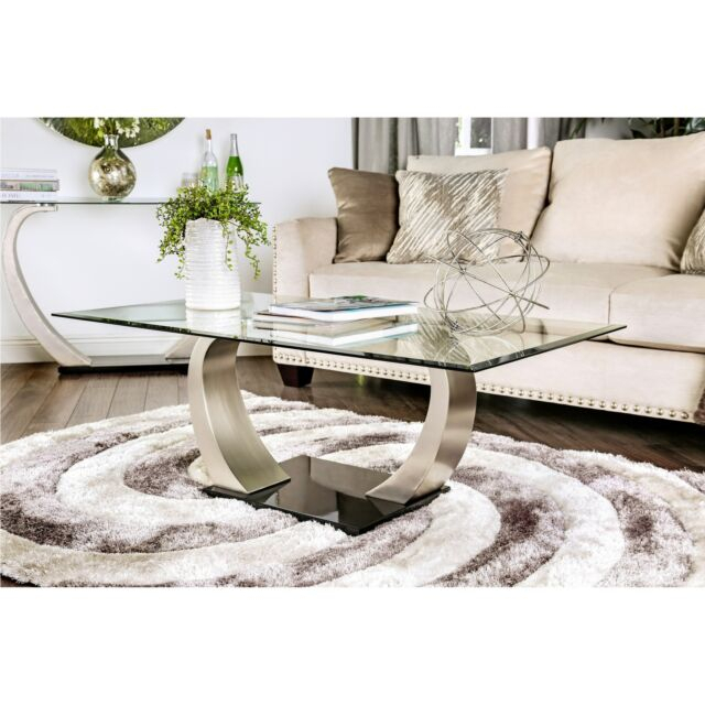 Furniture Of America Carmella Modern Satin Plated Coffee Table Inside Carmella Satin Plated Coffee Tables (View 4 of 50)