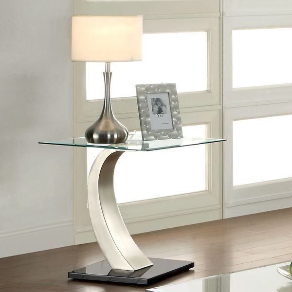 Furniture Of America Carmella Satin Plated End Table (Satin In Carmella Satin Plated Coffee Tables (View 3 of 50)