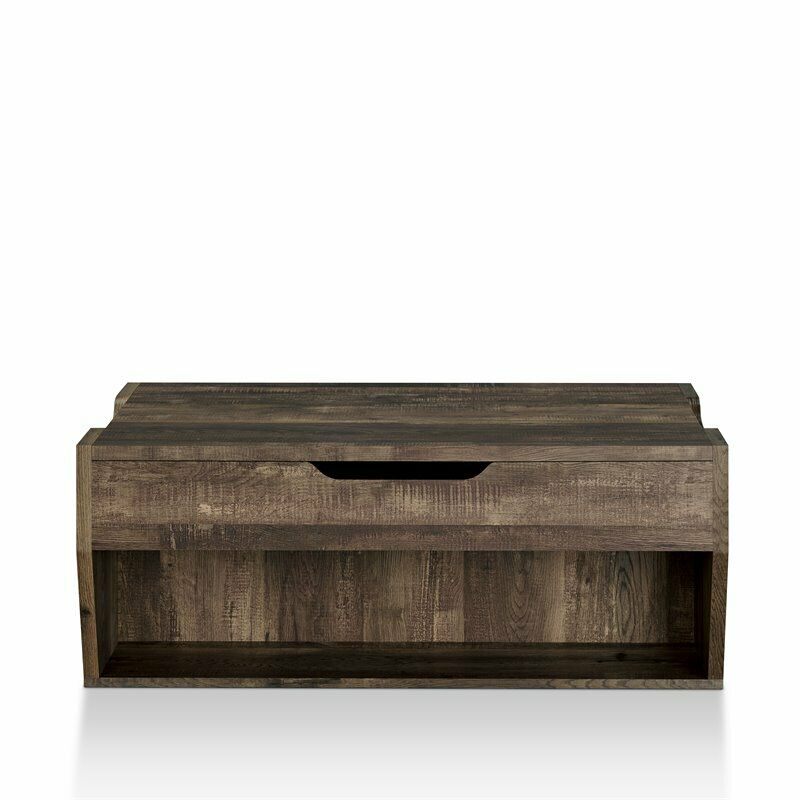 Furniture Of America Edwards Rustic Coffee Table In Reclaimed Oak Throughout Furniture Of America Charlotte Weathered Oak Glass Top Coffee Tables (View 43 of 50)
