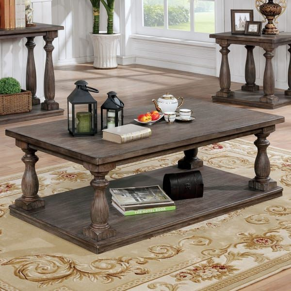 Featured Image of Jessa Rustic Country 54 Inch Coffee Tables