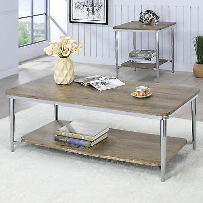 Furniture Of America Tellarie Contemporary Chrome Coffee In Furniture Of America Tellarie Contemporary Chrome Coffee Tables (Image 15 of 25)