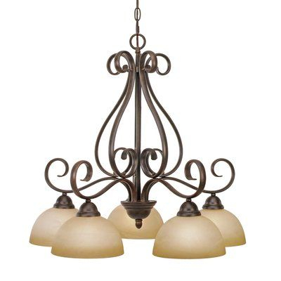 Gaines 5 Light Shaded Chandelier In 2019 | Lights For Gaines 5 Light Shaded Chandeliers (View 4 of 20)