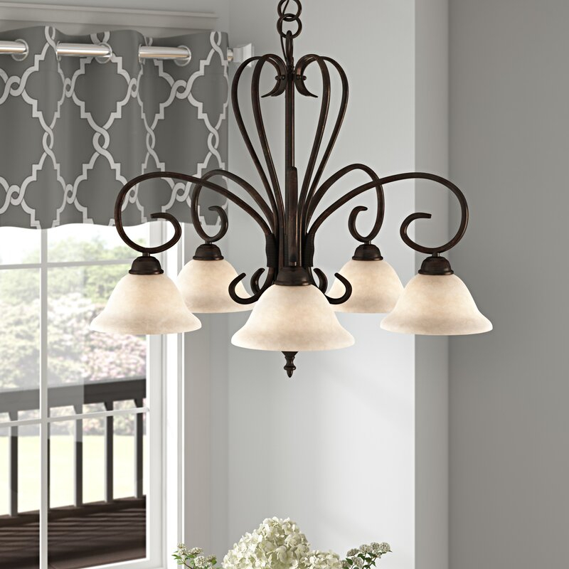 Featured Image of Gaines 5 Light Shaded Chandeliers