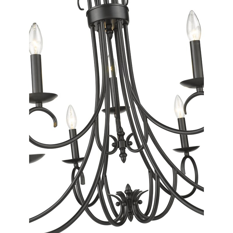 Gaines 9 Light Candle Style Chandelier In Gaines 5 Light Shaded Chandeliers (View 7 of 20)