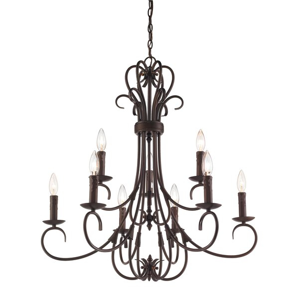 Gaines 9 Light Candle Style Chandelier Pertaining To Gaines 5 Light Shaded Chandeliers (View 20 of 20)