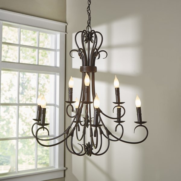 Gaines 9 Light Candle Style Chandelier With Regard To Gaines 5 Light Shaded Chandeliers (View 9 of 20)