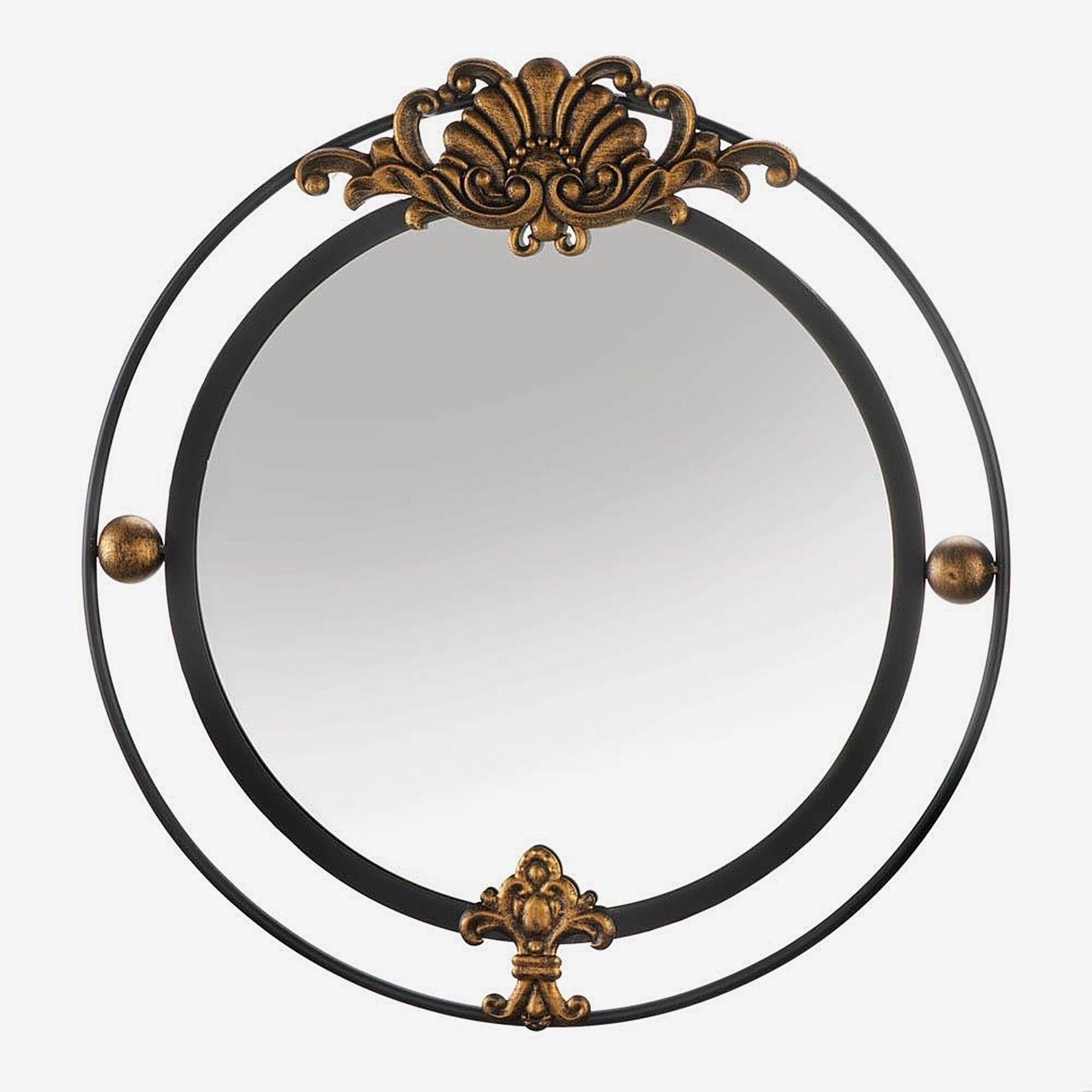 Garfield Decorative Round Wall Mirror – Black/gold With Decorative Round Wall Mirrors (Image 13 of 20)