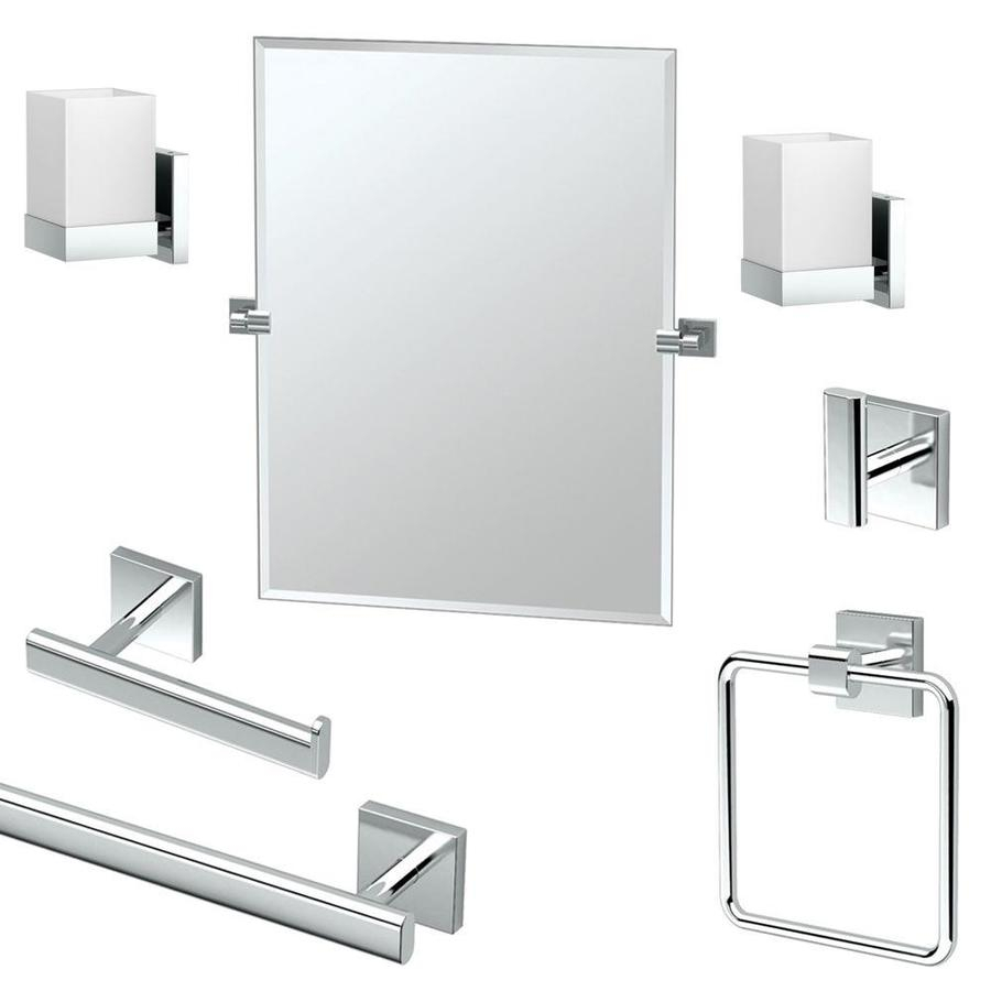 Gatco Gatco Ka Ele 7 Pc Elevate 7 Piece Bathroom Accessory With Elevate Wall Mirrors (Image 16 of 20)