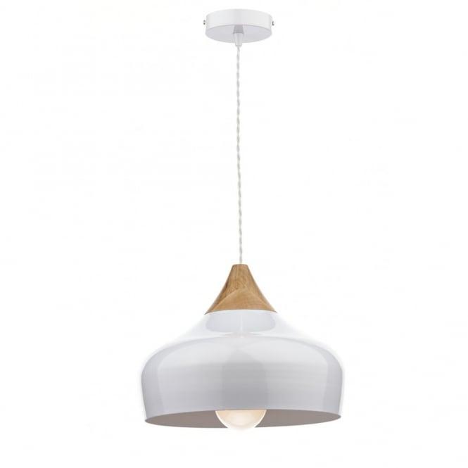 Gaucho White & Wood Ceiling Pendant Within Hurst 1 Light Single Cylinder Pendants (Image 10 of 25)
