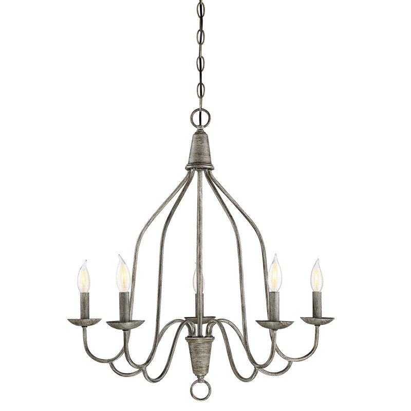 Geeta 5 Light Candle Style Chandelier Pertaining To Florentina 5 Light Candle Style Chandeliers (View 19 of 20)