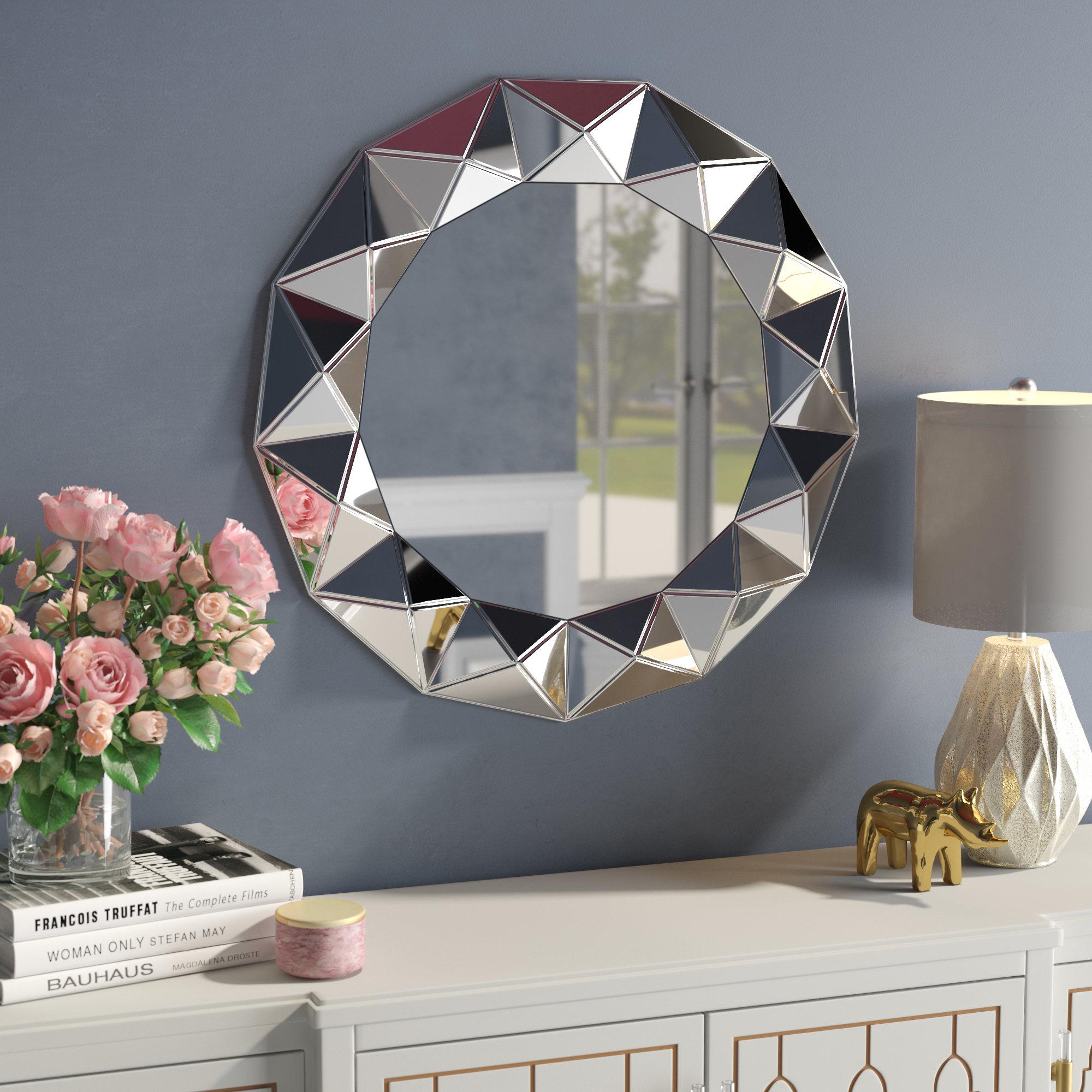 Geometric Mirrors | Wayfair For Rectangle Ornate Geometric Wall Mirrors (Photo 20 of 20)