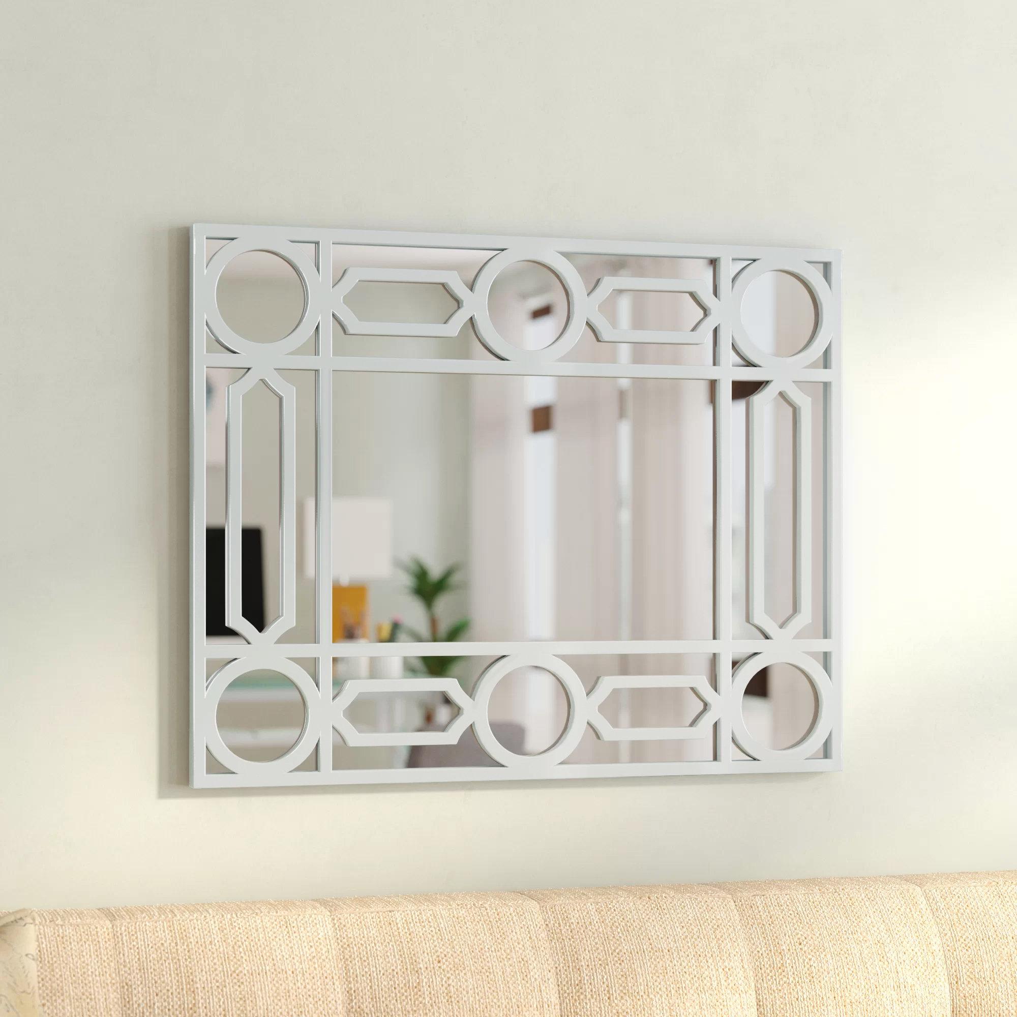 Geometric Wall Mirror | Wayfair With Rectangle Ornate Geometric Wall Mirrors (Photo 15 of 20)