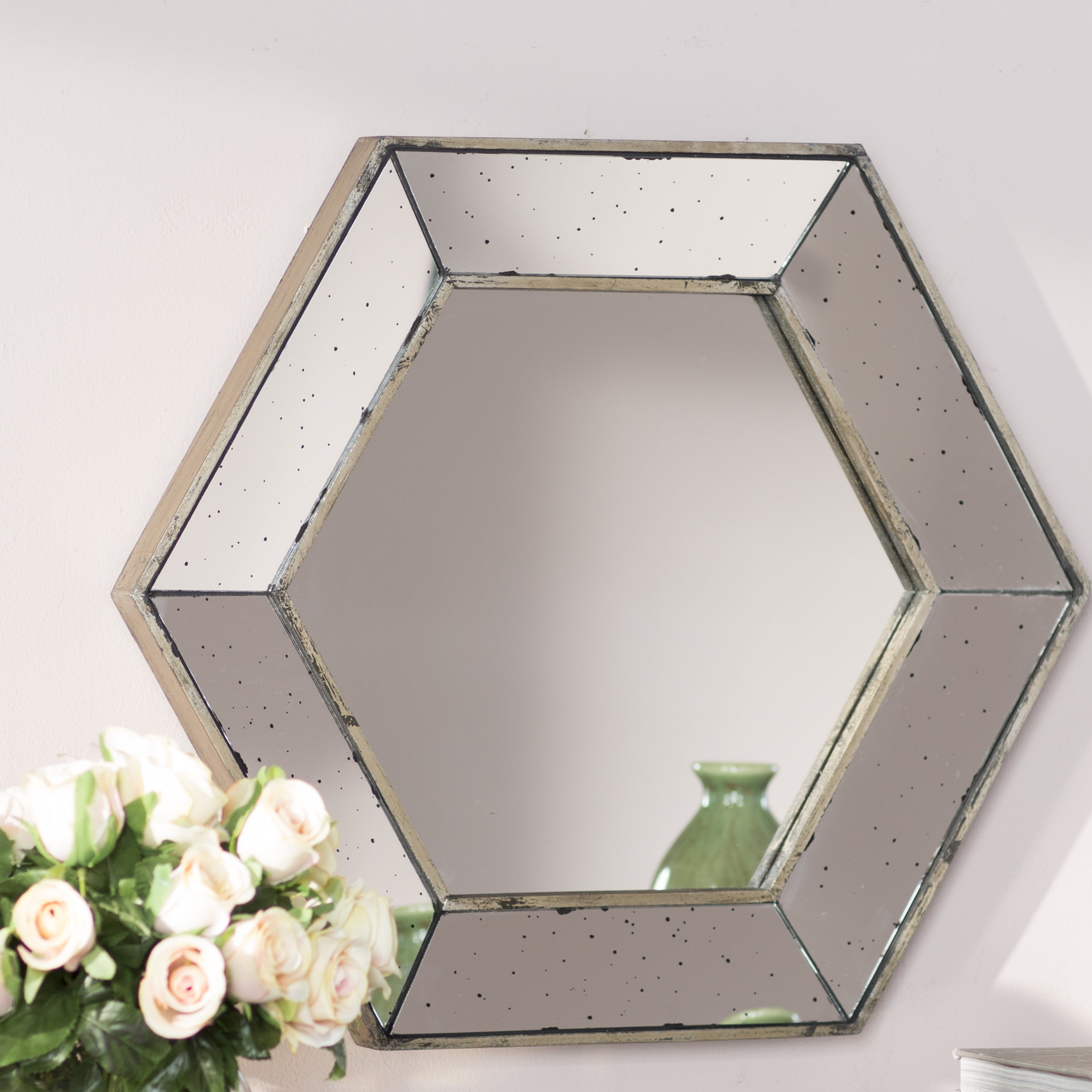 Featured Image of Gia Hexagon Accent Mirrors