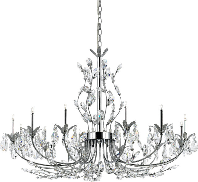 Giselle 12 Light Chandelier, Clear With Gisselle 4 Light Drum Chandeliers (View 12 of 20)
