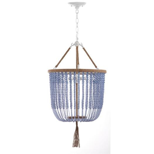 Giselle Light Blue Beaded Foyer Pendant With Gisselle 4 Light Drum Chandeliers (View 20 of 20)