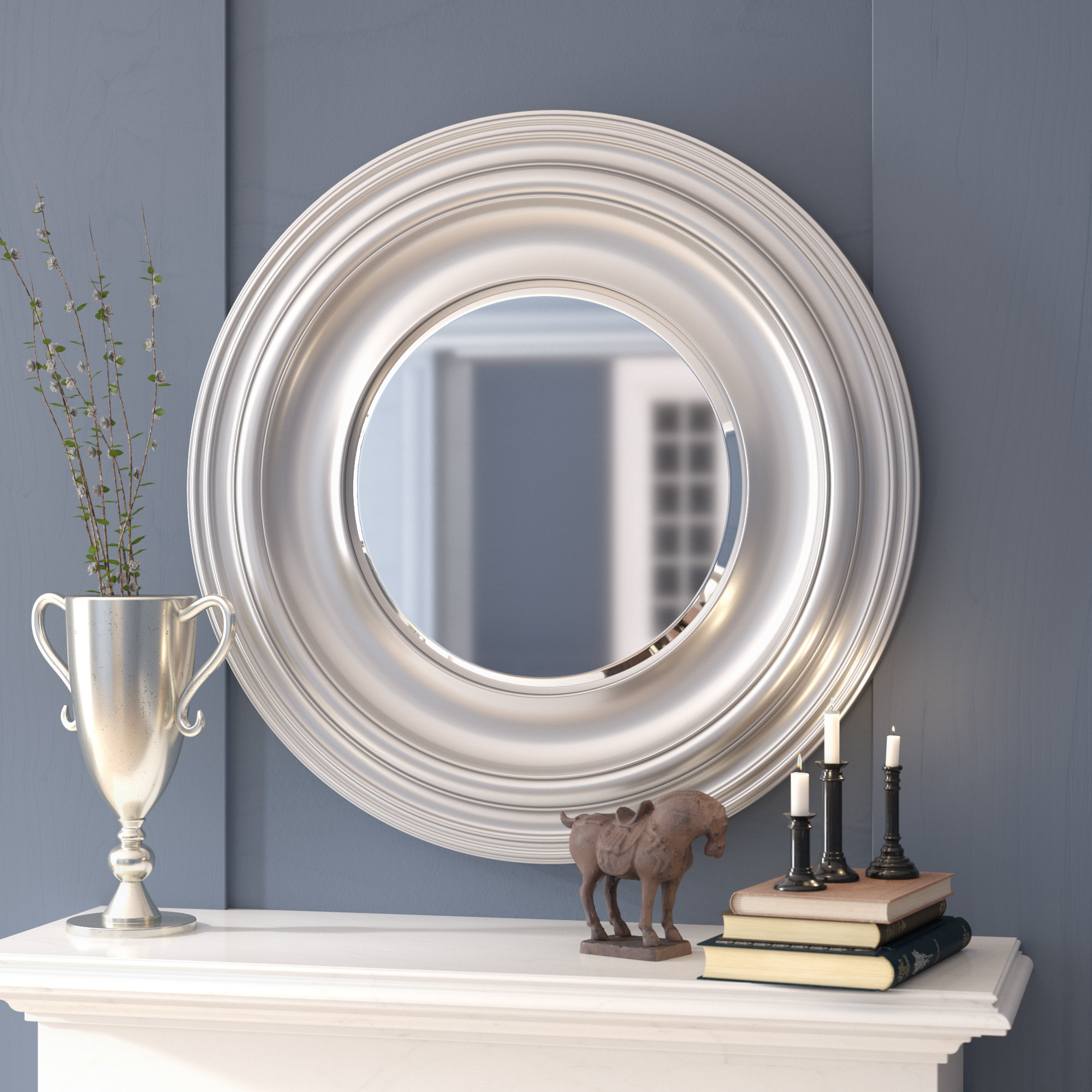 Giuditta Modern & Contemporary Accent Mirror With Charters Towers Accent Mirrors (Image 9 of 20)