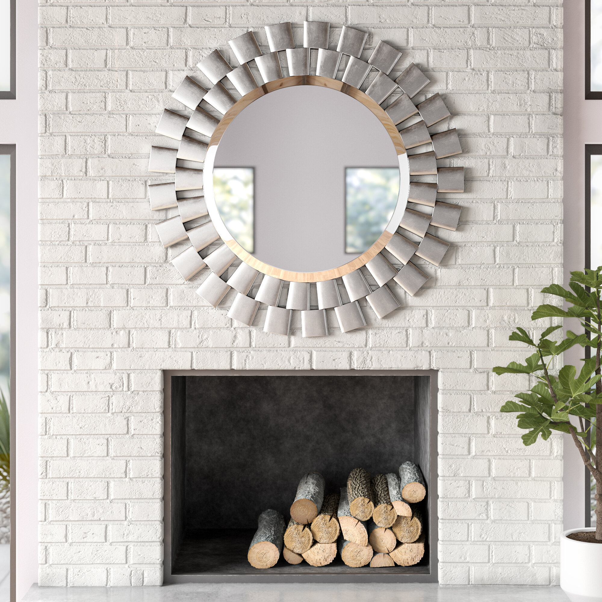 Glam Beveled Accent Mirror With Josephson Starburst Glam Beveled Accent Wall Mirrors (Image 6 of 20)