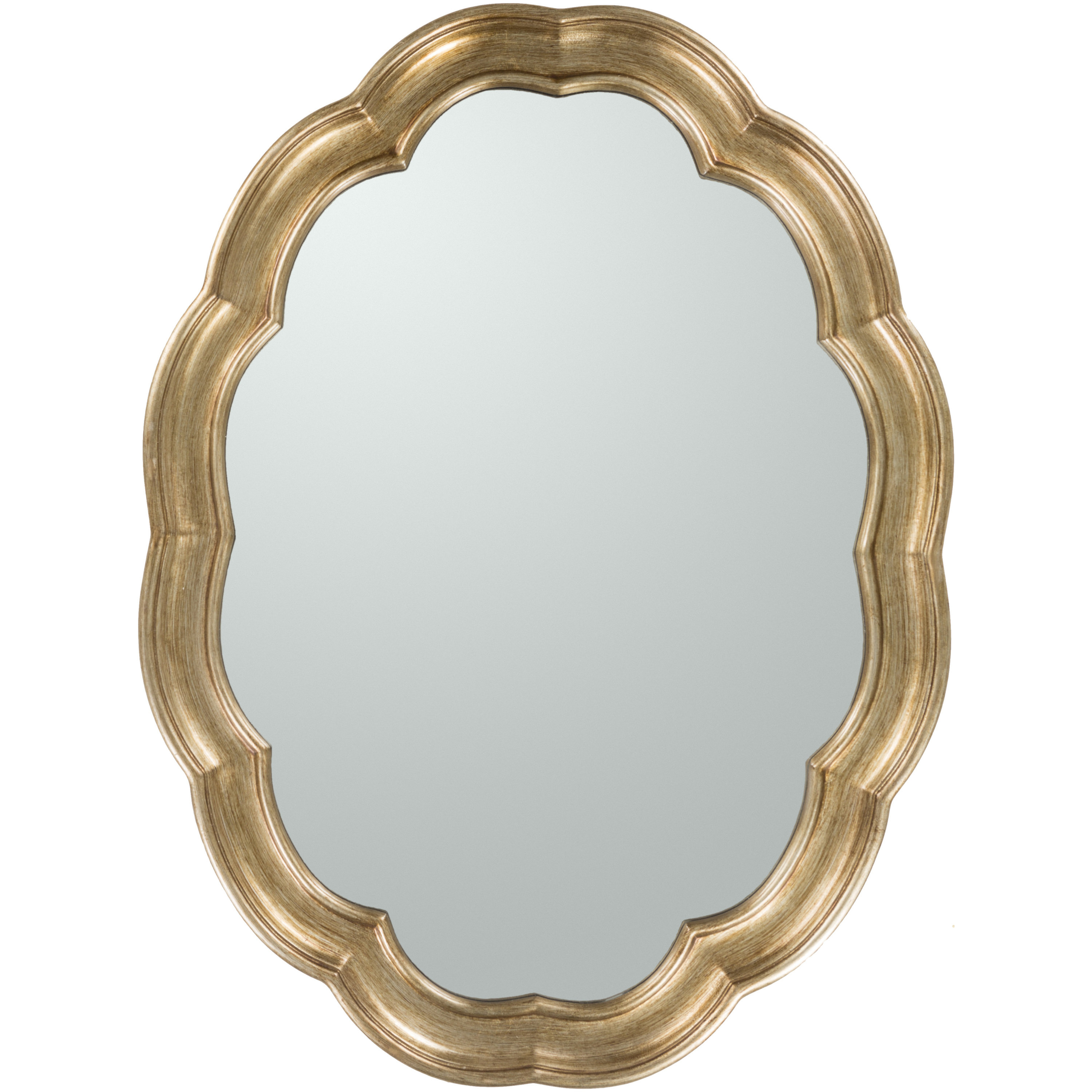 Glam Oval Accent Wall Mirror Pertaining To Padang Irregular Wood Framed Wall Mirrors (View 10 of 20)