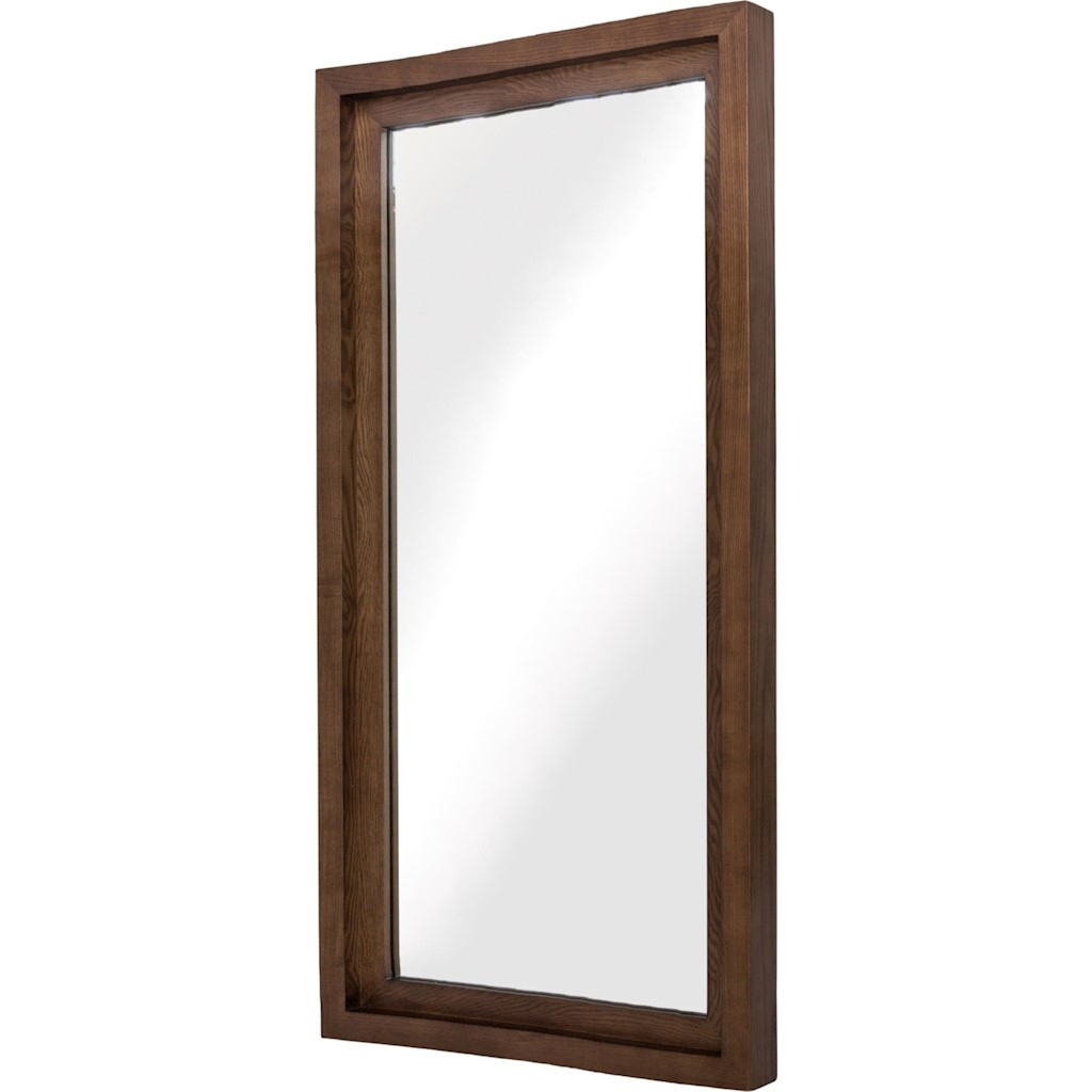 Glam Walnut Wood Wall Mirror Intended For Walnut Wood Wall Mirrors (View 3 of 20)
