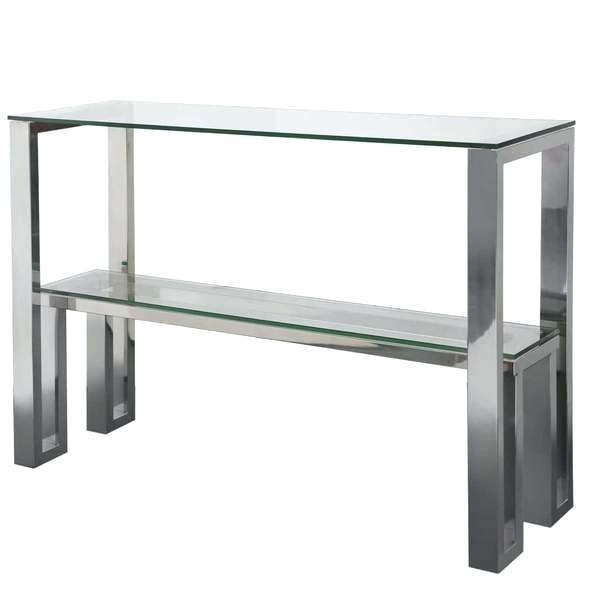 Glass And Chrome Console Table – Barbrazuniga (View 23 of 25)