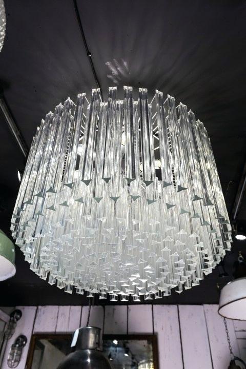 Glass Drum Chandelier – Hueytietjen (Image 4 of 20)