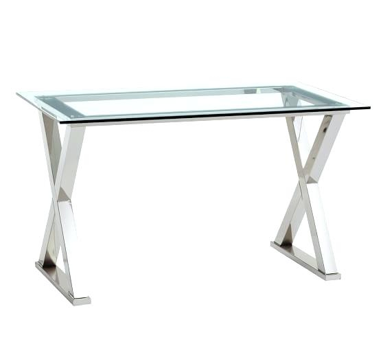 Glass Writing Desk – Fullmovieus (Image 10 of 50)