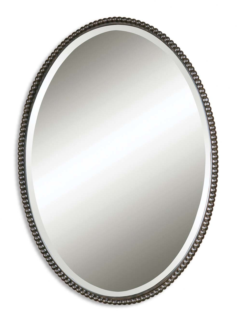 Glen View Beaded Oval Traditional Accent Mirror & Reviews With Glen View Beaded Oval Traditional Accent Mirrors (View 4 of 20)