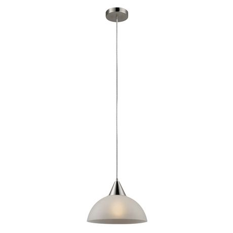 Globe Electric Inc Globe Electric 65336 Luna 1 Light Plug In Or Hardwire Bowl Pendant, Brushed Steel Finish, Frosted White Shade, 15Ft Clear Cord, With Vintage Edison 1 Light Bowl Pendants (View 25 of 25)