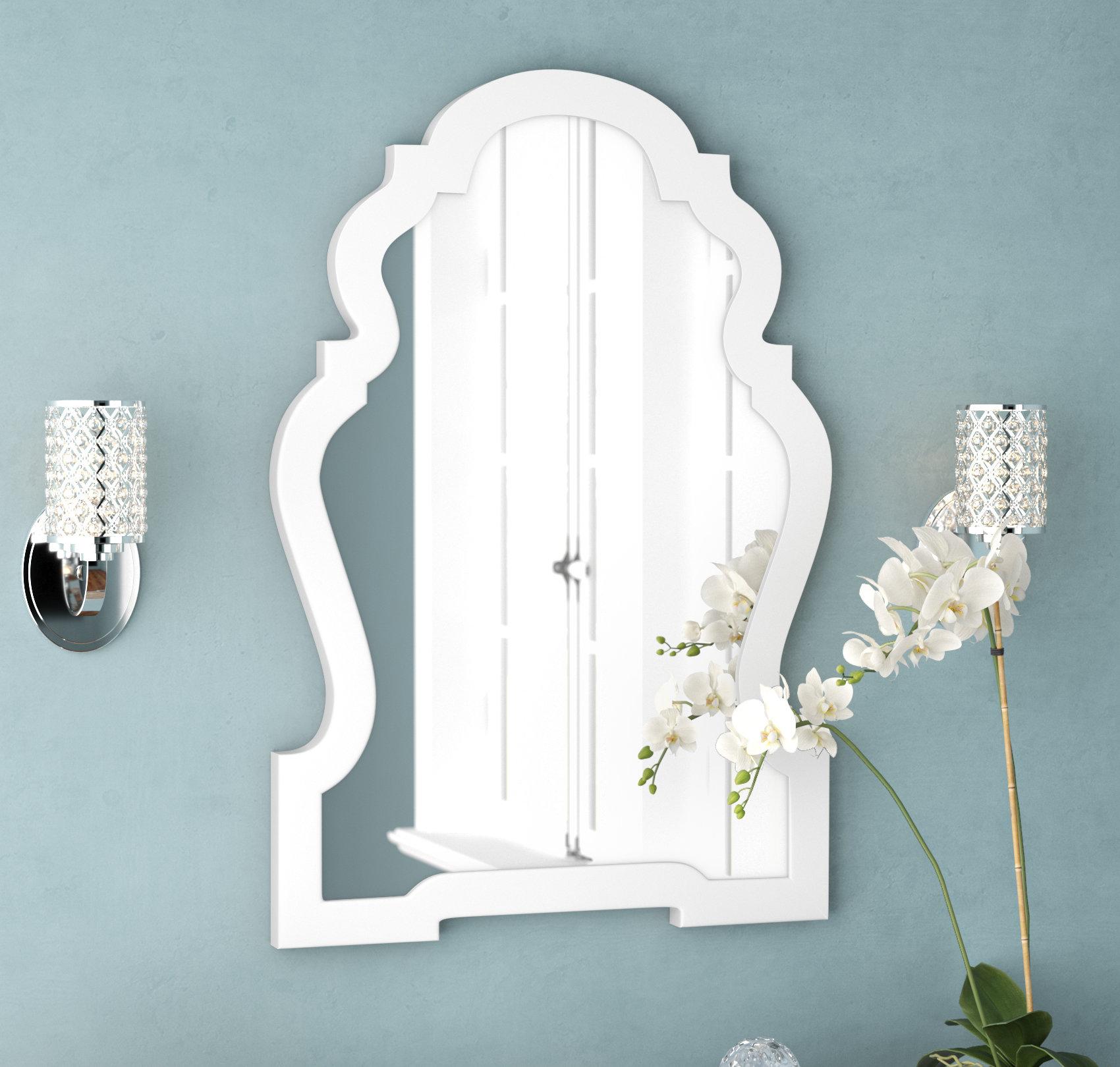 Glossy White Mirror | Wayfair Regarding Reba Accent Wall Mirrors (View 9 of 20)