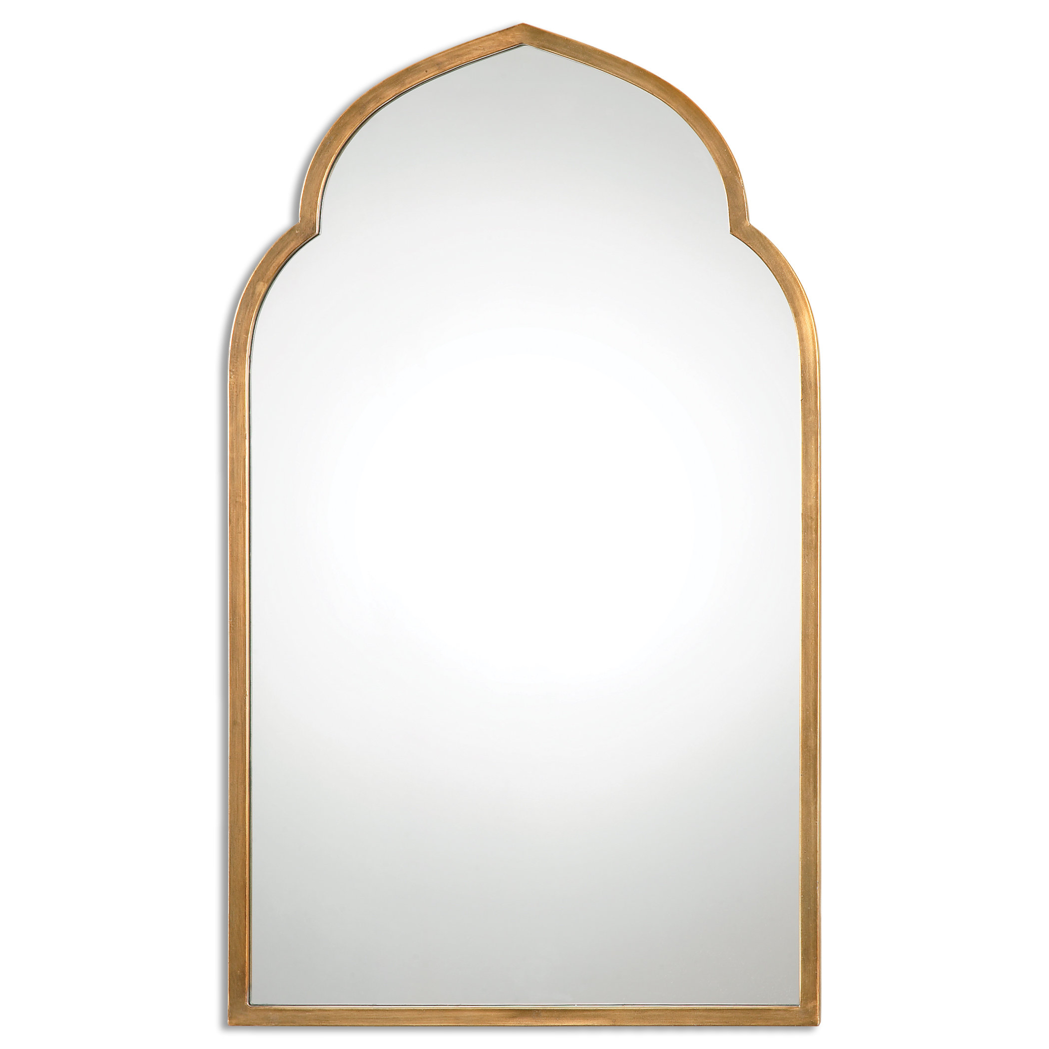 Gold Arch Wall Mirror & Reviews | Joss & Main Inside Arch Top Vertical Wall Mirrors (Image 14 of 20)