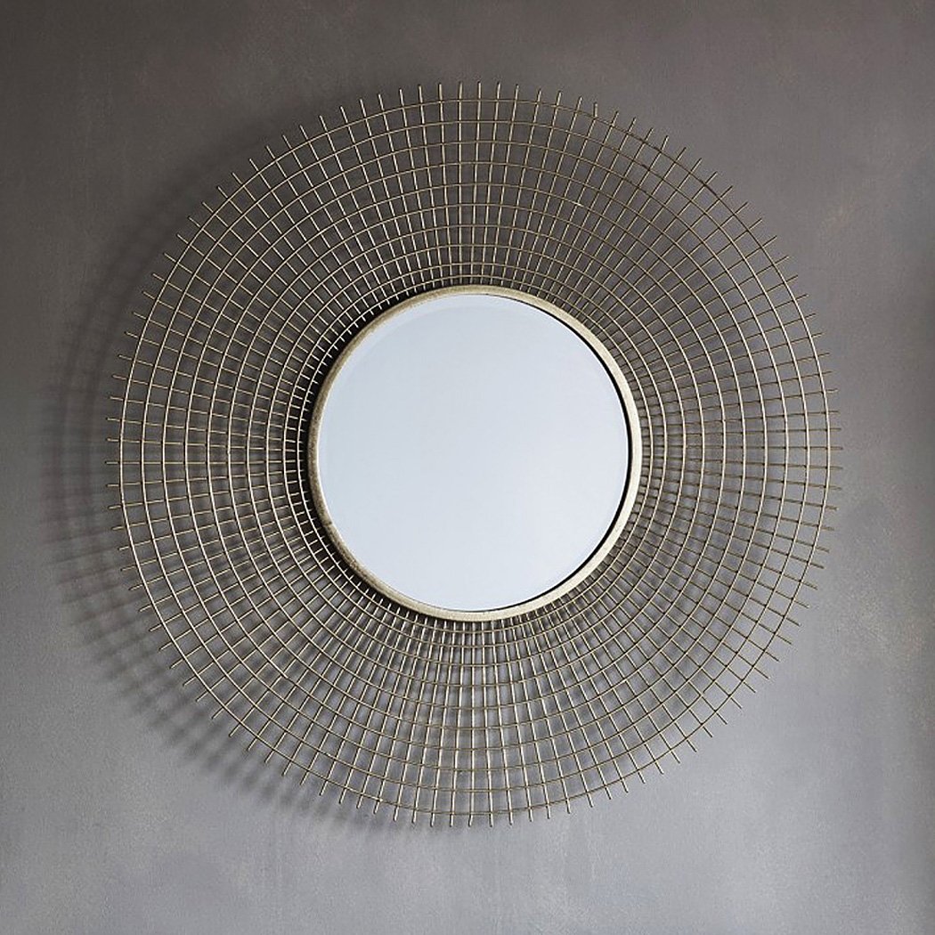 Gold Round Wirework Wall Mirror Intended For Industrial Modern & Contemporary Wall Mirrors (View 17 of 20)