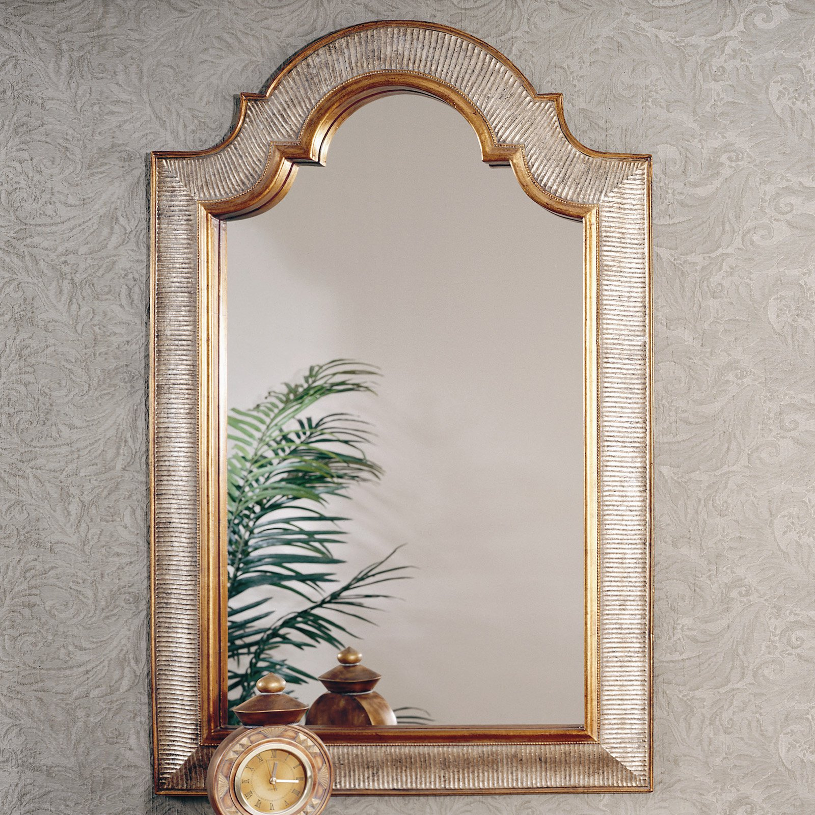 Gold & Silver Arched Decorative Mirror – 29W X 45H In (View 18 of 20)