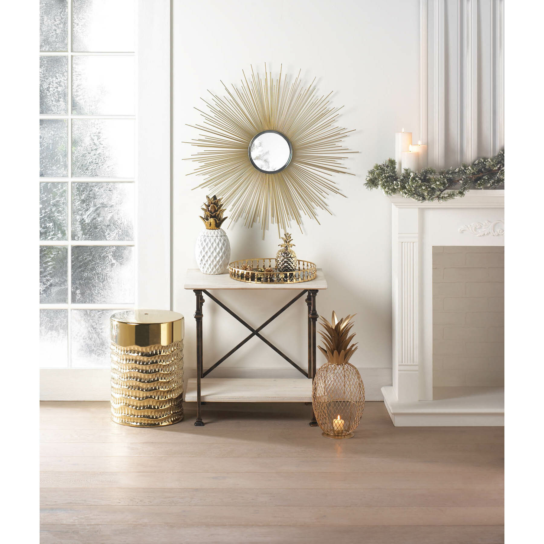 Golden Rays Wall Mirror With Regard To Dandre Wall Mirrors (View 18 of 20)